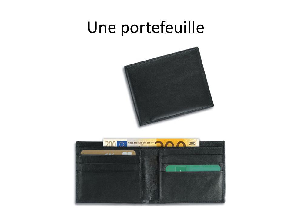 Une portefeuille