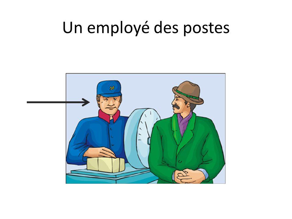 Un employé des postes