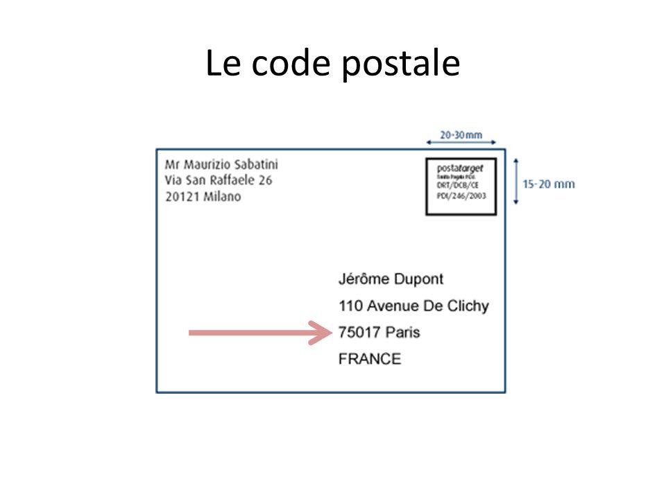 Le code postale