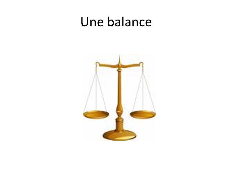 Une balance