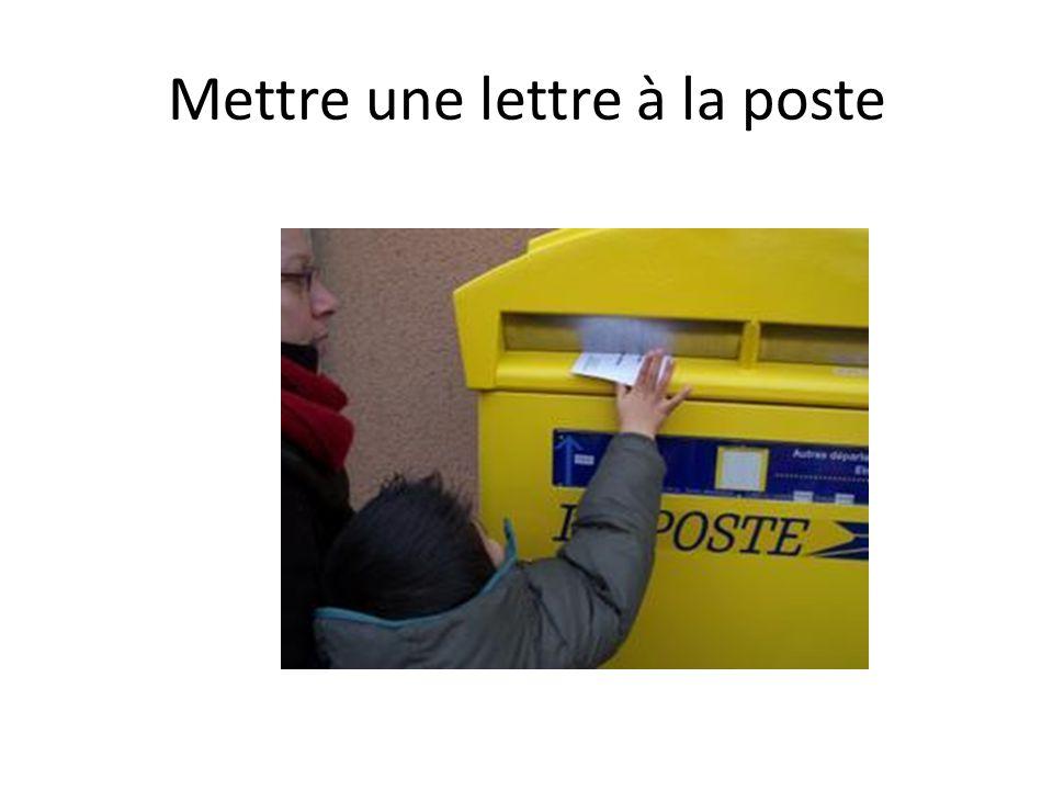 Mettre une lettre à la poste