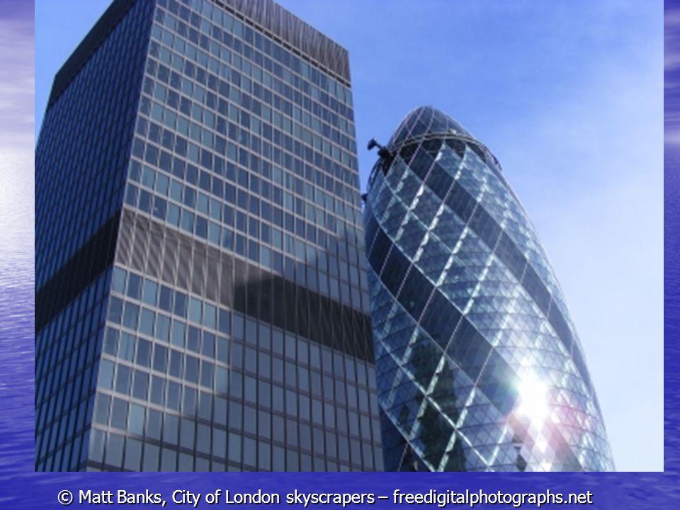© Matt Banks, City of London skyscrapers – freedigitalphotographs.net