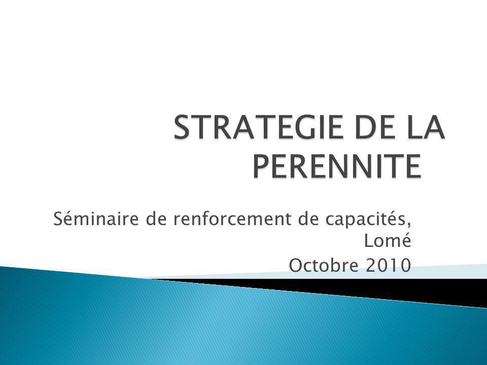 Séminaire de renforcement de capacités, Lomé Octobre 2010