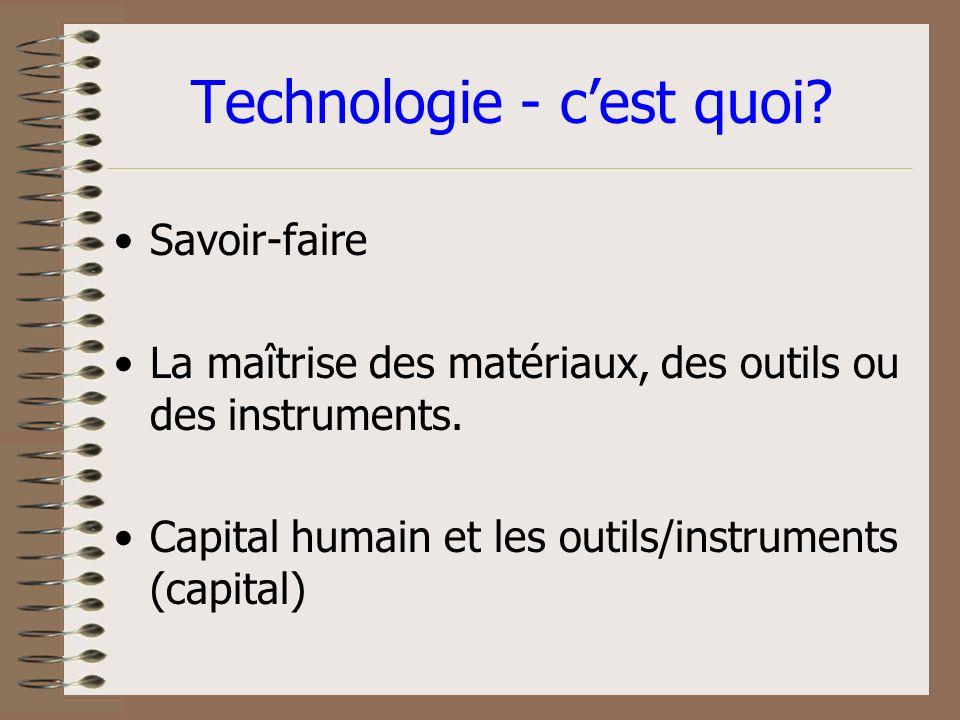 Agenda pour lEmploi dans le Monde Technologie 17 Septembre 2002 10.30-12.00