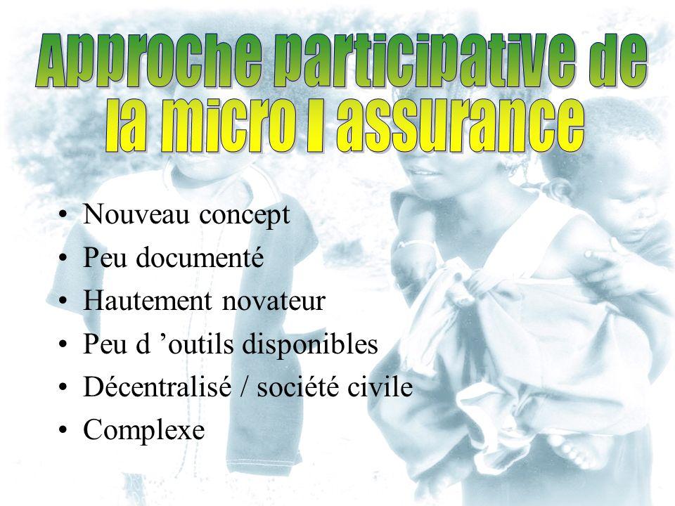 Nouveau concept Peu documenté Hautement novateur Peu d outils disponibles Décentralisé / société civile Complexe