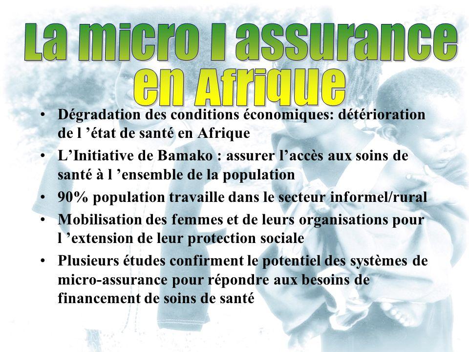 Dégradation des conditions économiques: détérioration de l état de santé en Afrique LInitiative de Bamako : assurer laccès aux soins de santé à l ense