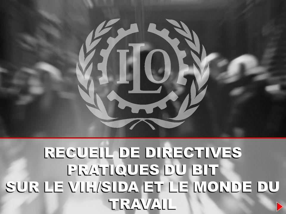 &Pour les gouvernements &Pour les employeurs &Pour les travailleurs DROITS ET RESPONSABILITES LE RECUEIL DE DIRECTIVES PRATIQUES DU BIT
