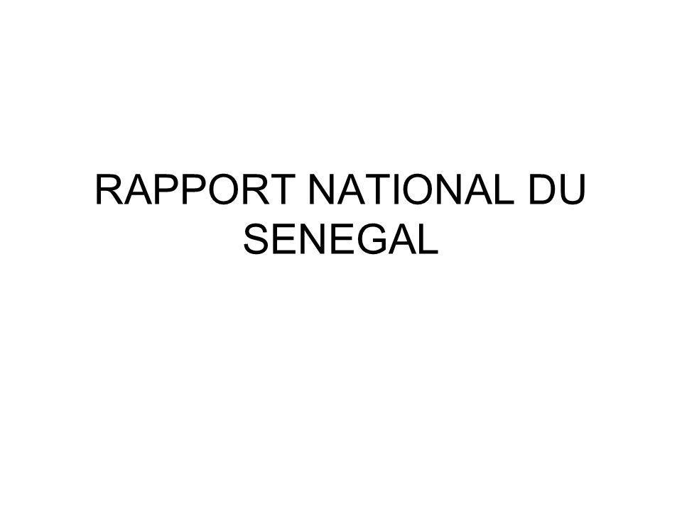 RAPPORT NATIONAL DU SENEGAL