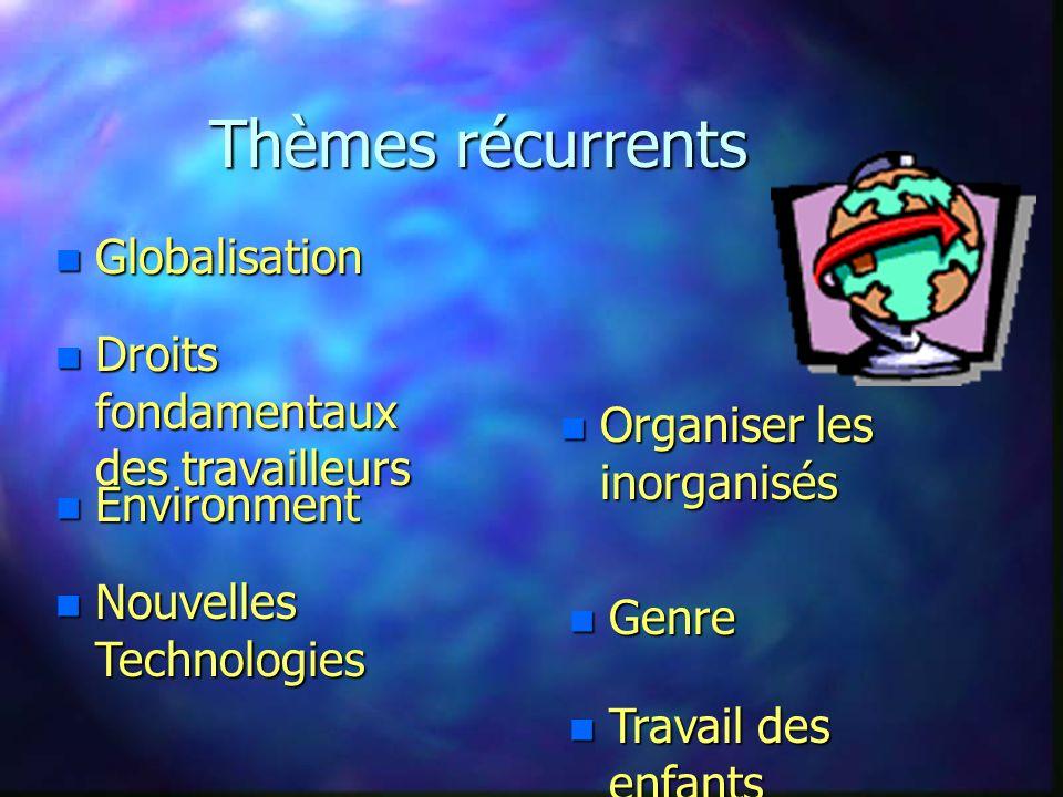 Politiques de Développement n Formation n Recherche n Ateliers/Séminaires/ n Projets n Services-Conseils AIDER LES SYNDICATS à MAITRISER LES ASPECTS