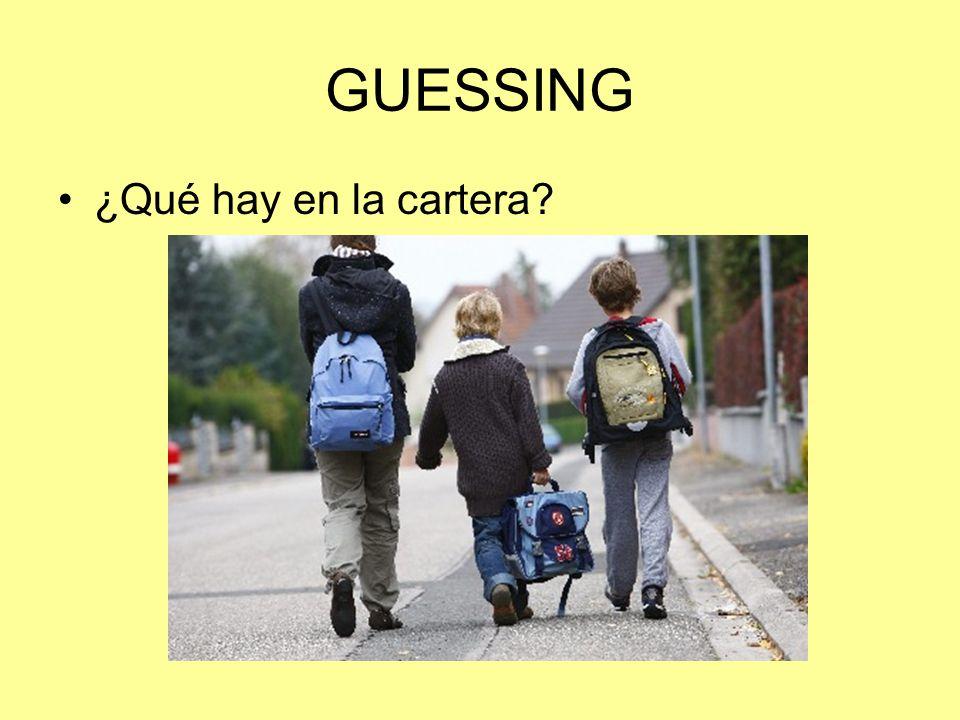 GUESSING ¿Qué hay en la cartera?