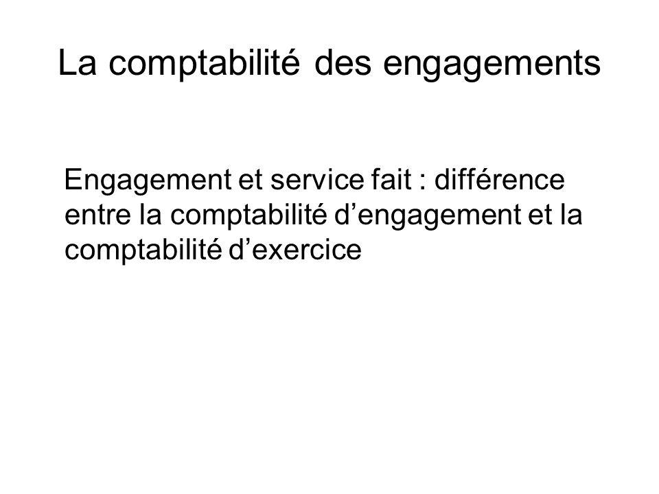 La comptabilité des engagements Engagement et service fait : différence entre la comptabilité dengagement et la comptabilité dexercice