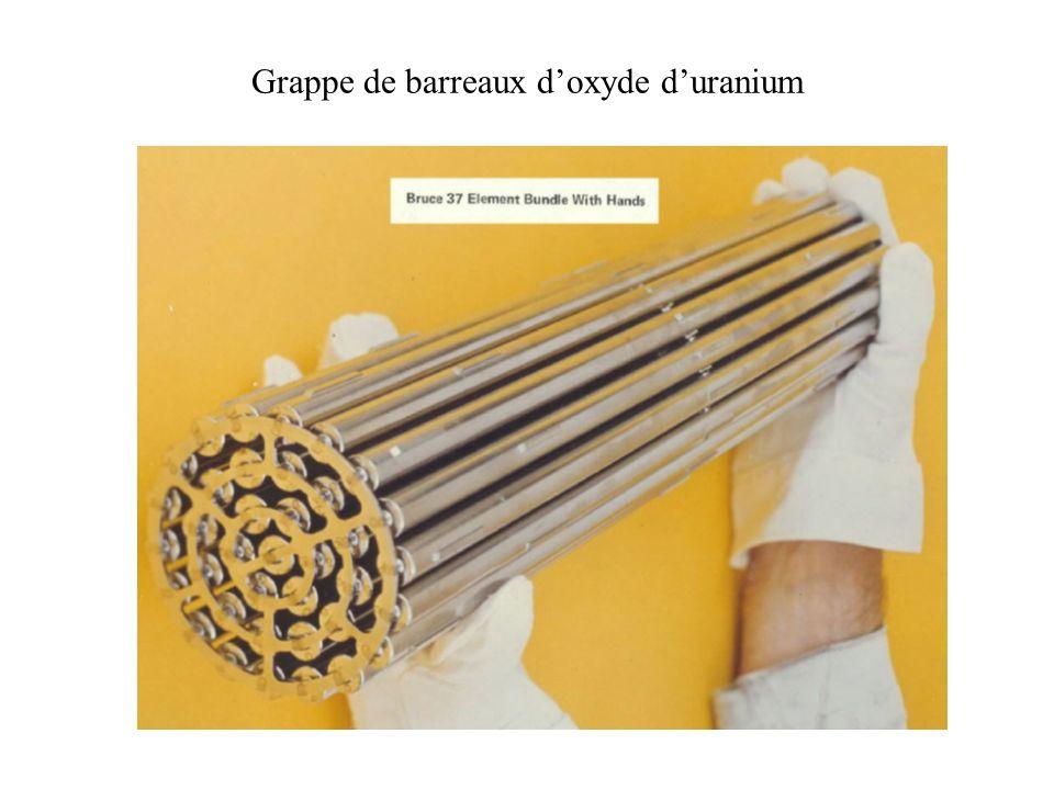 Grappe de barreaux doxyde duranium