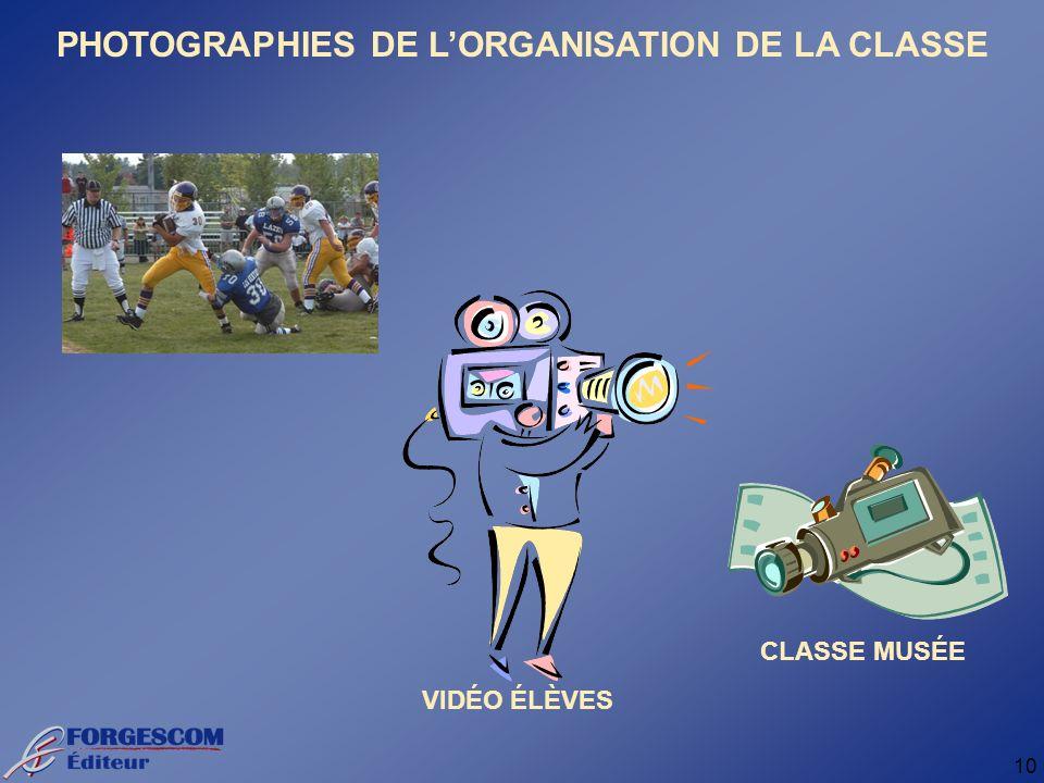 10 PHOTOGRAPHIES DE LORGANISATION DE LA CLASSE VIDÉO ÉLÈVES CLASSE MUSÉE