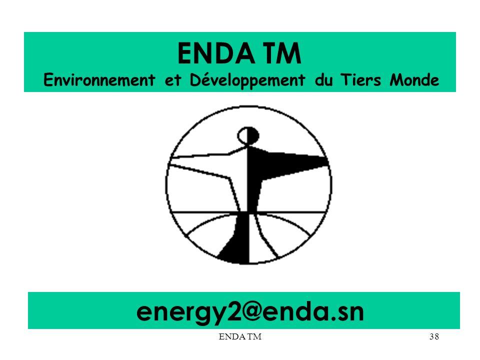 ENDA TM38 ENDA TM Environnement et Développement du Tiers Monde energy2@enda.sn