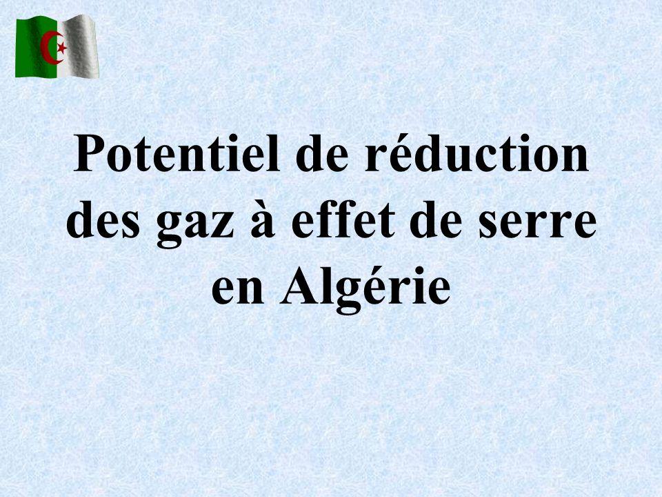 Potentiel de réduction des gaz à effet de serre en Algérie