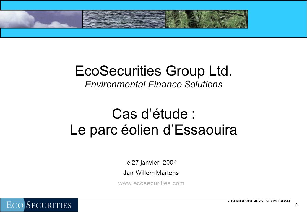 -20- EcoSecurities Group Ltd. 2004 All Rights Reserved Calculez le FEC
