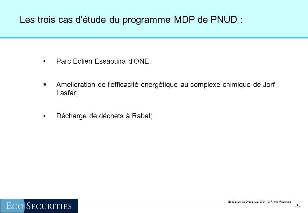 -15- EcoSecurities Group Ltd. 2004 All Rights Reserved La première étape : ladditionalité