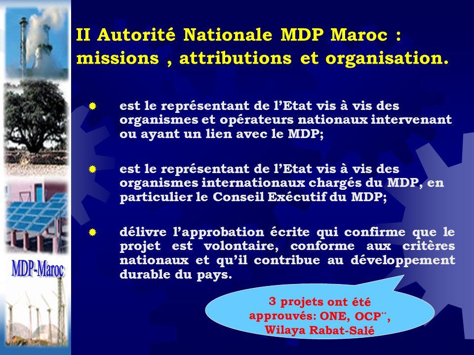 II Autorité Nationale MDP Maroc : missions, attributions et organisation. est le représentant de lEtat vis à vis des organismes et opérateurs nationau