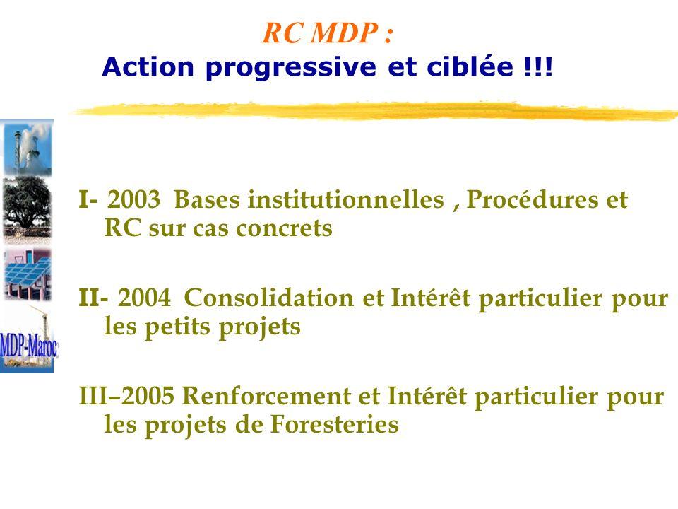 RC MDP : Action progressive et ciblée !!.