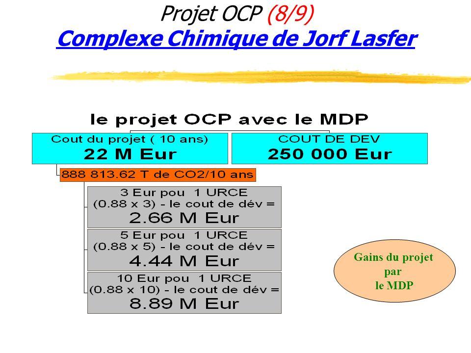 Projet OCP (8/9) Complexe Chimique de Jorf Lasfer Gains du projet par le MDP