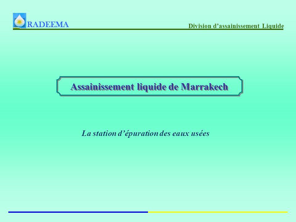 RADEEMA Division dassainissement Liquide Assainissement liquide de Marrakech La station dépuration des eaux usées