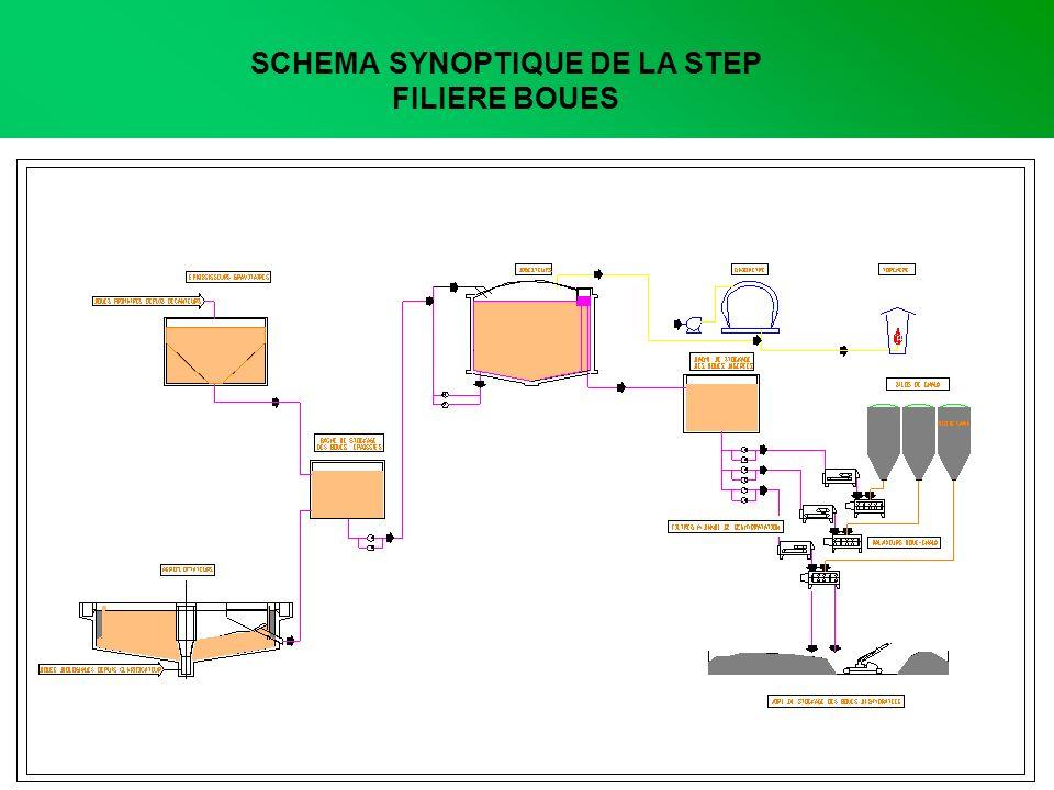 SCHEMA SYNOPTIQUE DE LA STEP FILIERE BOUES