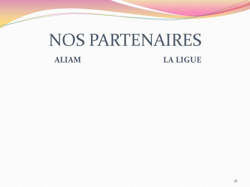 NOS PARTENAIRES ALIAM LA LIGUE 16