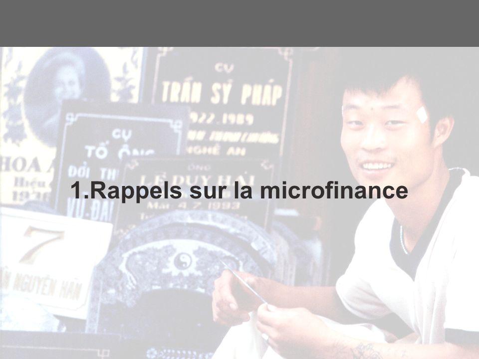 3 1.Rappels sur la microfinance