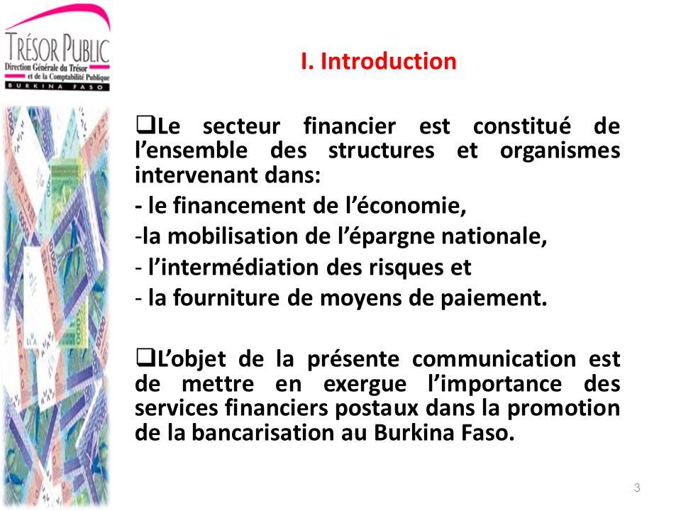 II.1Le Cadre juridique Le secteur financier burkinabè est régi principalement par des textes de portée communautaire.
