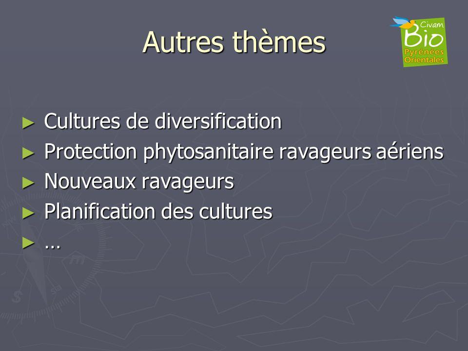 Autres thèmes Cultures de diversification Cultures de diversification Protection phytosanitaire ravageurs aériens Protection phytosanitaire ravageurs