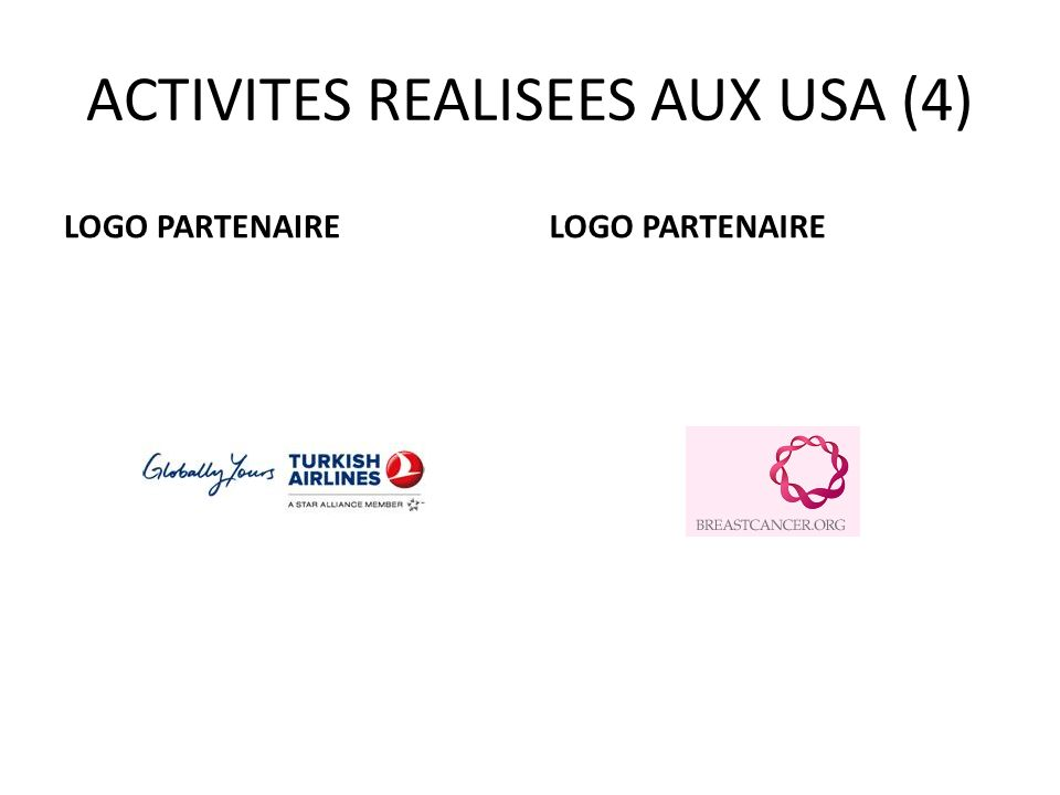 ACTIVITES REALISEES AUX USA (4) LOGO PARTENAIRE