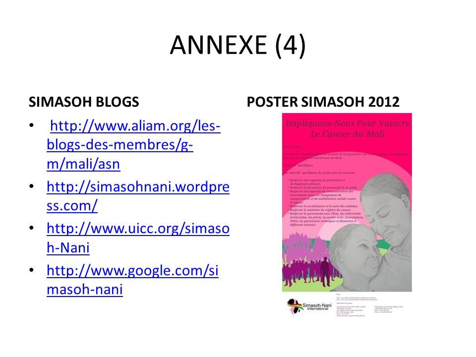 ANNEXE (4) SIMASOH BLOGS http://www.aliam.org/les- blogs-des-membres/g- m/mali/asnhttp://www.aliam.org/les- blogs-des-membres/g- m/mali/asn http://sim