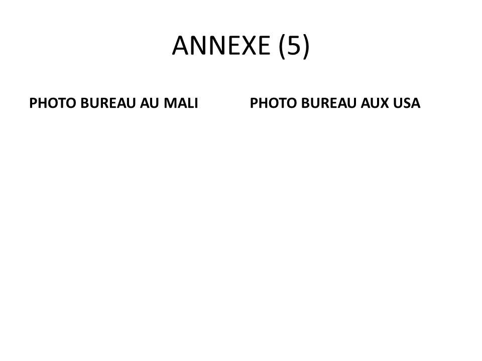 ANNEXE (5) PHOTO BUREAU AU MALIPHOTO BUREAU AUX USA