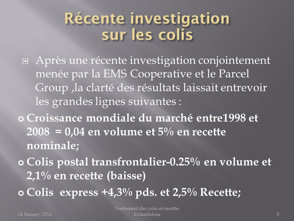 Après une récente investigation conjointement menée par la EMS Cooperative et le Parcel Group,la clarté des résultats laissait entrevoir les grandes l