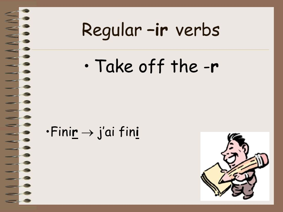 Regular –er verbs Take off the –er and replace it with –é Jouer jaijoué