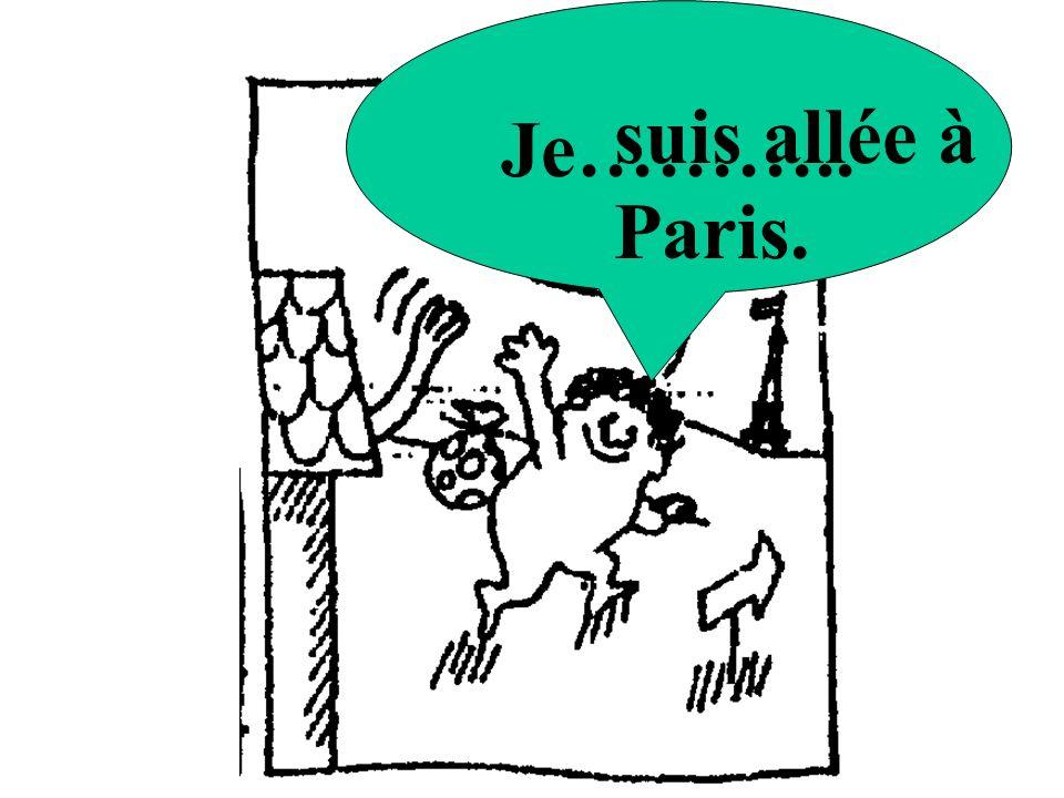 Je……….. suis allée à Paris.