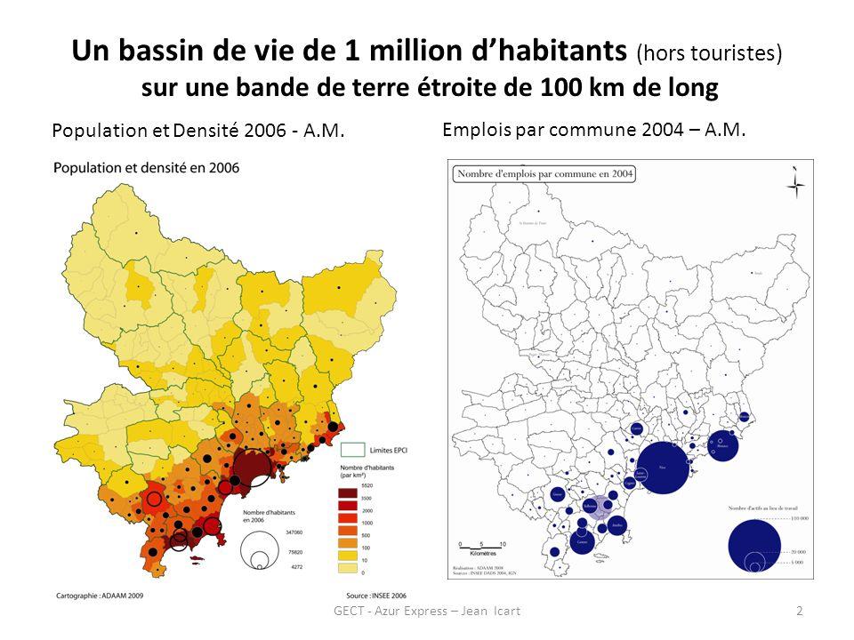 GECT - Azur Express – Jean Icart3 Déplacements quotidiens massifs 3.4 millions / jour