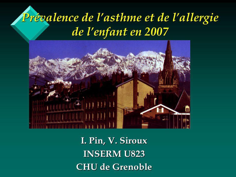 Prévalence de lasthme et de lallergie de lenfant en 2007 I.
