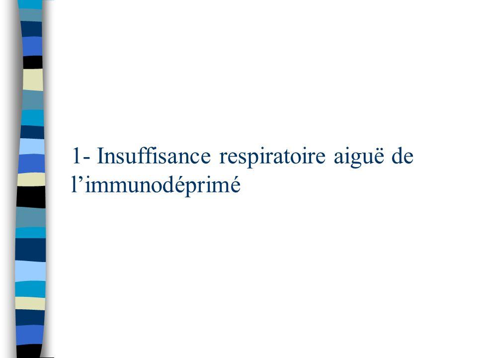 1- Insuffisance respiratoire aiguë de limmunodéprimé
