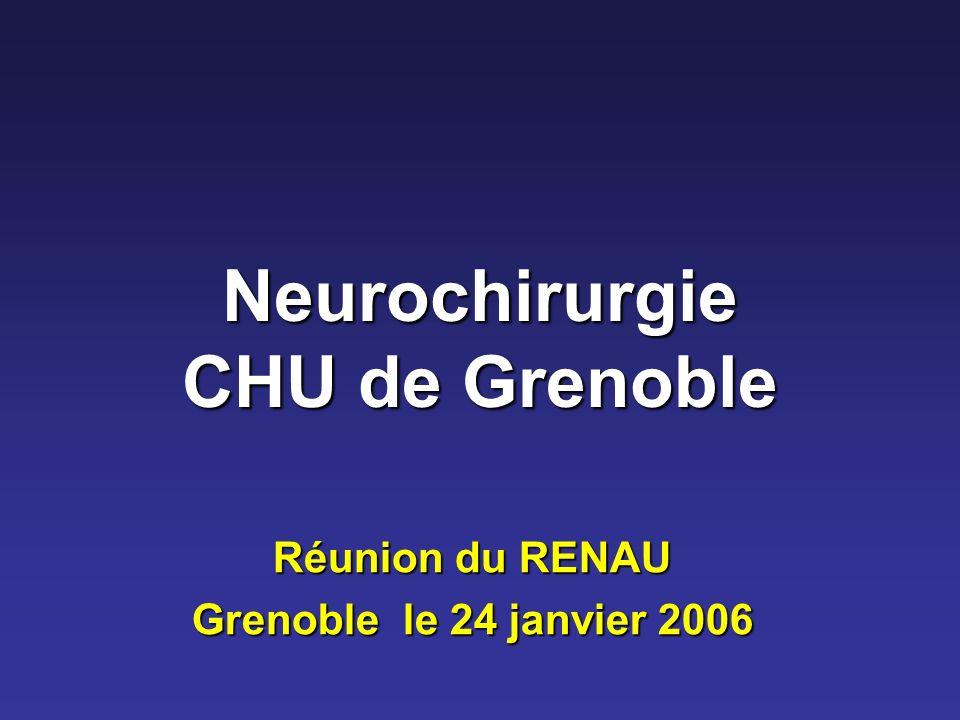 Neurochirurgie CHU de Grenoble Réunion du RENAU Grenoble le 24 janvier 2006