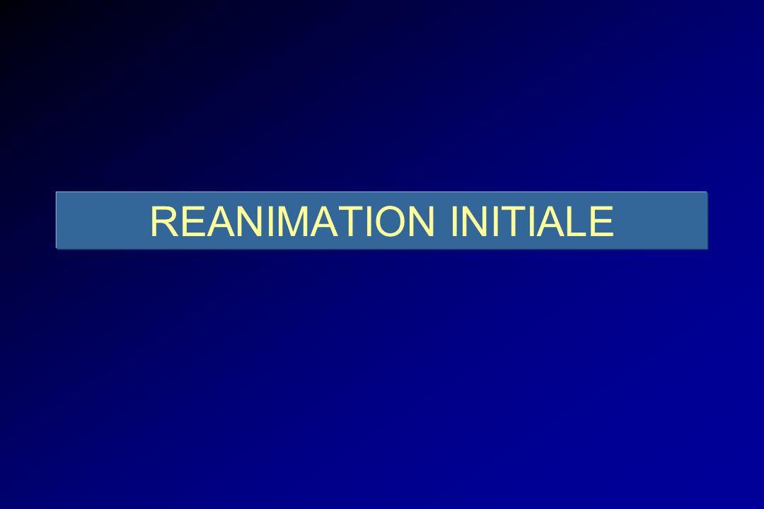 REANIMATION RESPIRATOIRE Lésions respiratoires primitives - Brûlures de larbre trachéo-bronchique - Inhalation de fumée - Blast Fibroscopie précoce puis itérative ( Masones, Chest 1995 )