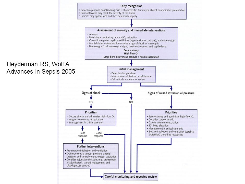 Heyderman RS, Wolf A Advances in Sepsis 2005