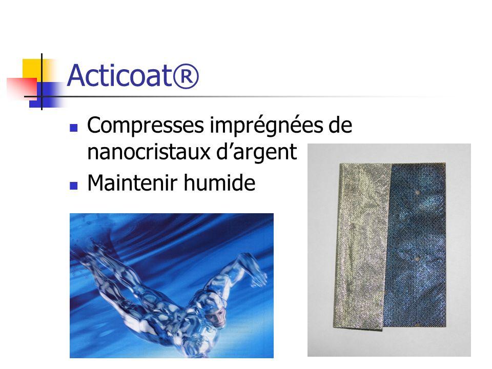 Acticoat® Compresses imprégnées de nanocristaux dargent Maintenir humide