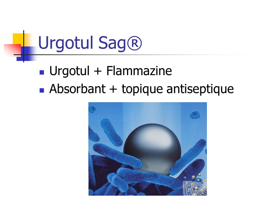 Urgotul Sag® Urgotul + Flammazine Absorbant + topique antiseptique