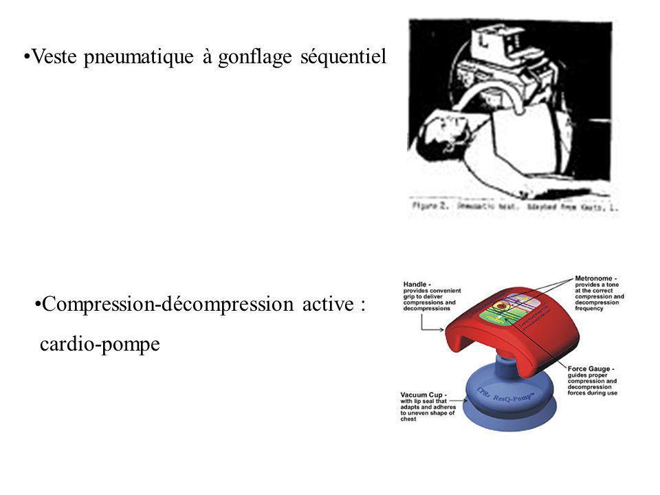 Veste pneumatique à gonflage séquentiel Compression-décompression active : cardio-pompe