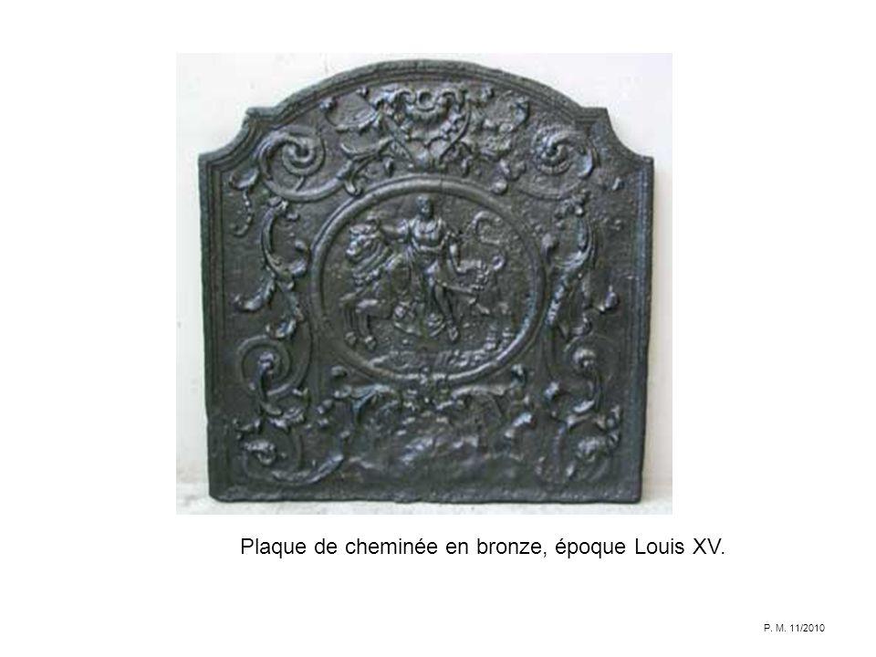 Plaque de cheminée en bronze, époque Louis XV. P. M. 11/2010