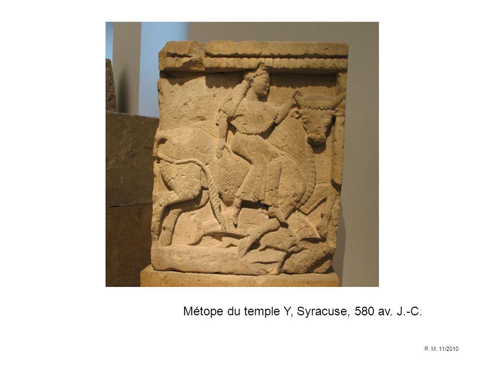 Métope du temple Y, Syracuse, 580 av. J.-C. P. M. 11/2010