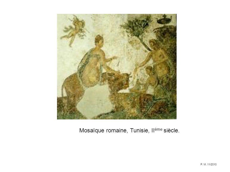 Mosaïque romaine, Tunisie, II ème siècle. P. M. 11/2010