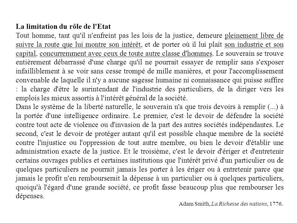 Le libéralisme cest avant tout : La non intervention de ………..