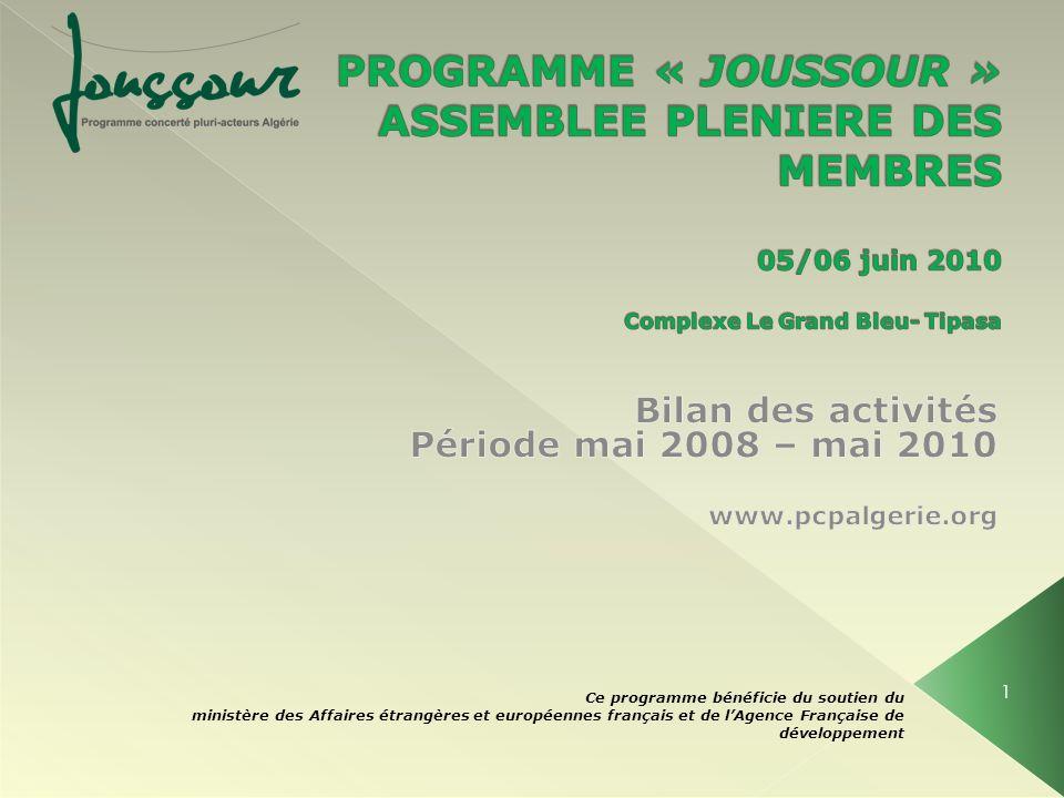 Ce programme bénéficie du soutien du ministère des Affaires étrangères et européennes français et de lAgence Française de développement 1